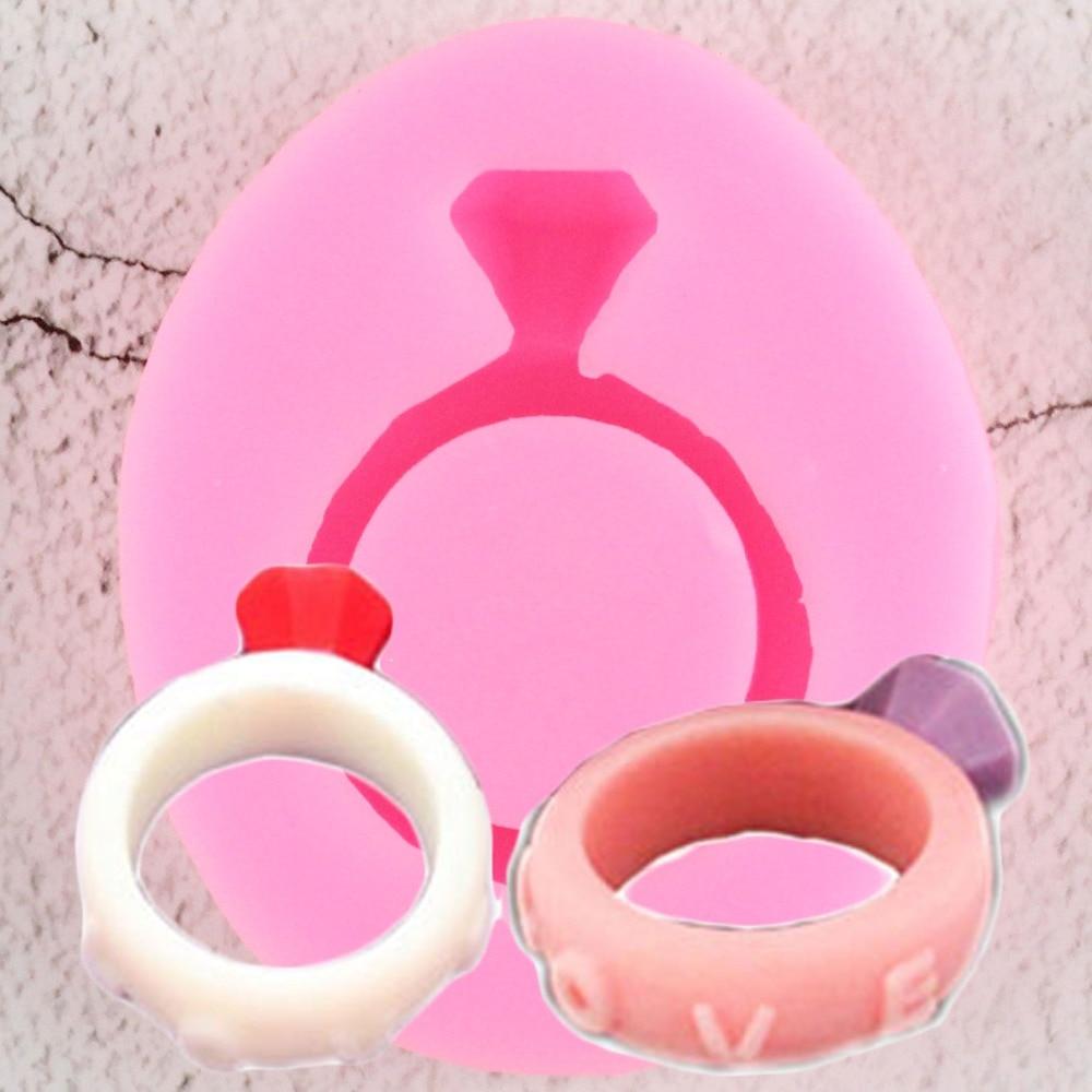 Herramientas para tartas 1 pieza anillo 3D molde de silicona decoración Cupcake Topper Chocolate pasta Fondant pastel herramienta molde