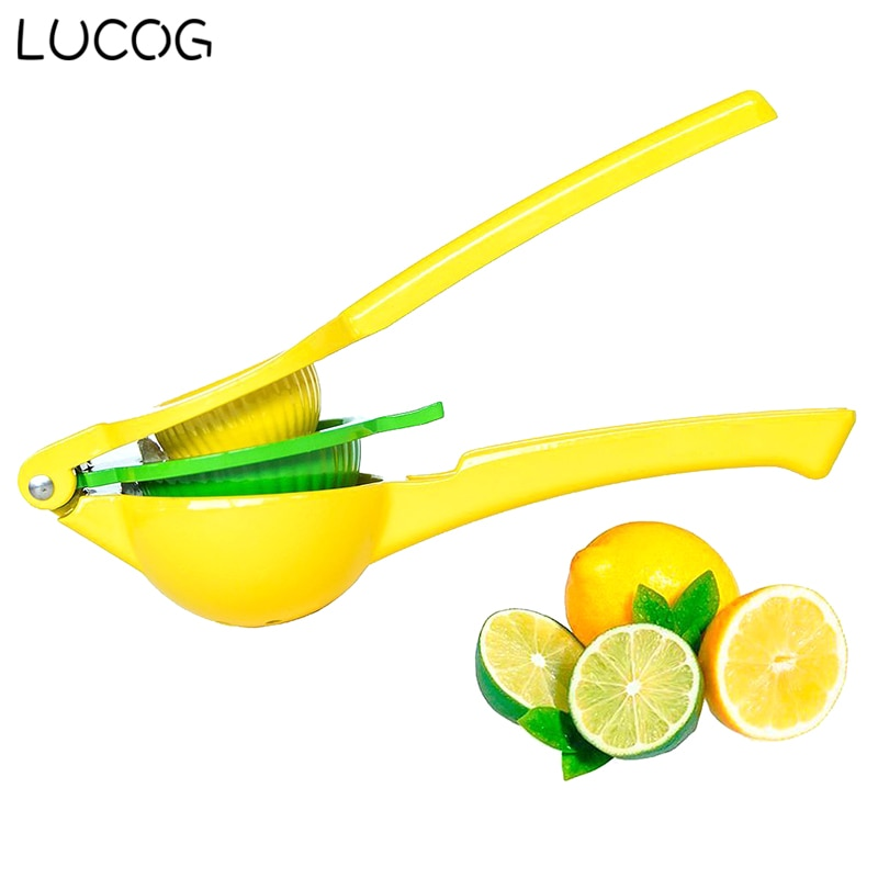 LUCOG Household Lemon Fruit Juicer Premium Quality Metal Lemon Lime Squeezer Enameled Aluminum Lemon Tools