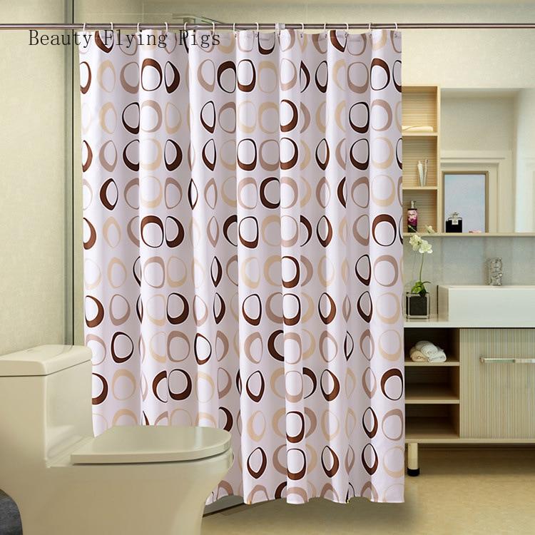 Direto casa de banho poliéster marrom círculo europeu sanitário partição cortina espessamento oídio cortina chuveiro à prova dwaterproof água