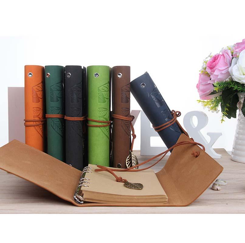 ¡Oferta! cuaderno A5 A6 A7, papelería de oficina, suministros escolares, diario de viaje, funda creativa de cuero, carpeta de anillas, cuaderno de papel Kraft