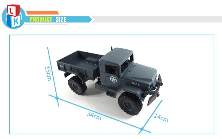 New Model 2.4G off-road Powerful Climbing Ability rc Military Trucks Remote Control Car wltoys rc Drift uzaktan kumandali araba enlarge