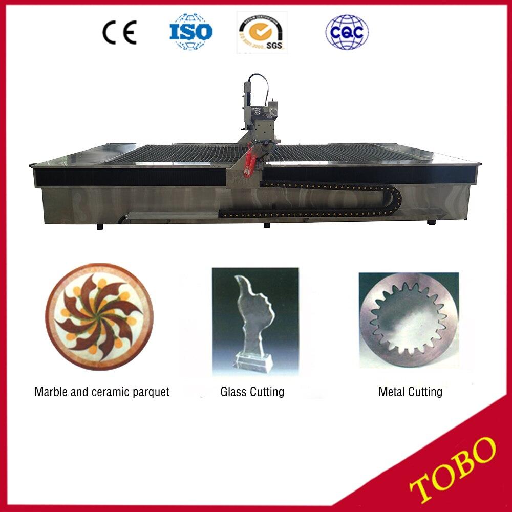 Máquina do jato de água do corte do metal, tecnologia de corte de vidro do jato de água, metal de corte com água
