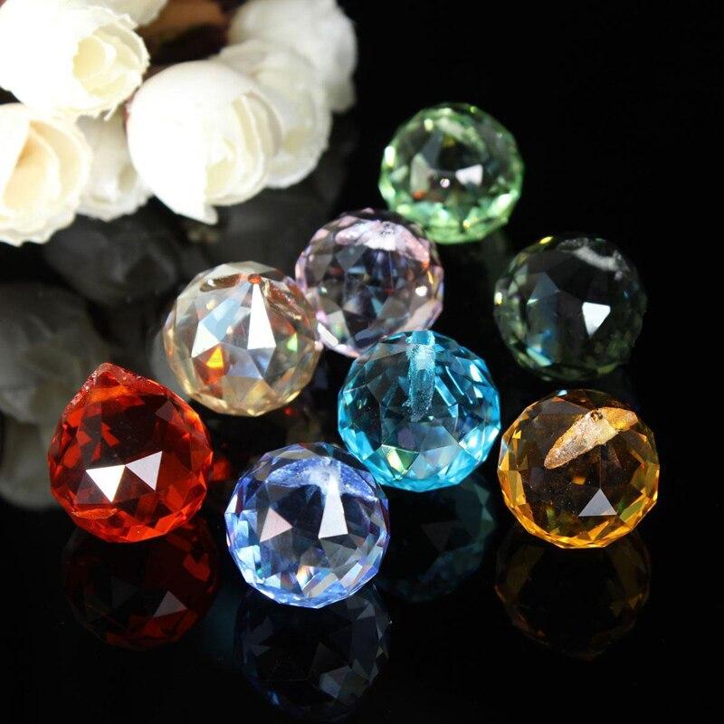 8 pçs peças do candelabro de cristal haning prismas de vidro arco-íris suncatcher pingentes para luz da lâmpada lustre pingentes