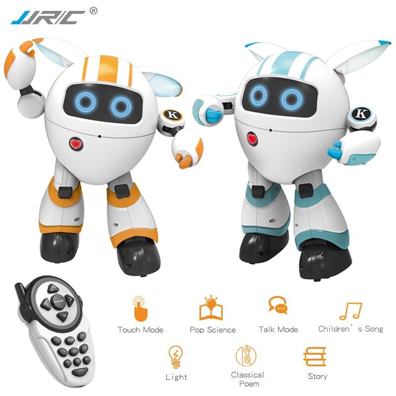 JJRC R14 juguetes Robot inteligente música de baile Robo poesía Robotica niños juguetes para niños de Robótica de Control remoto RC Robot de juguete