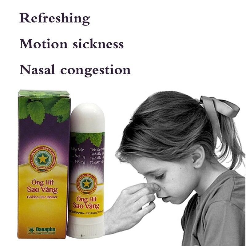 Tailandia hierbas nasales palos de inhalador Nasal menta cilindro treamento para el asma congestión Nasal dolor de cabeza refrescante Aroma Stick inhalador