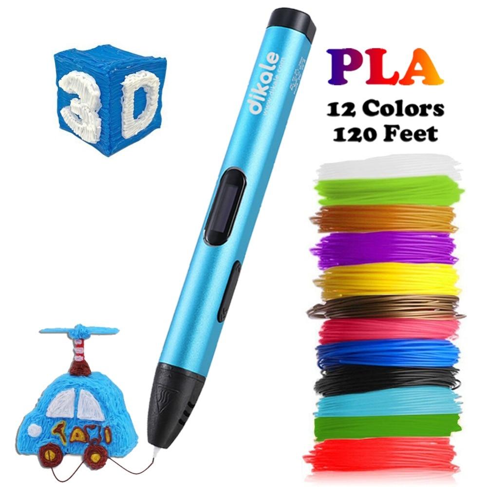 Dikale 3D Printing Pen 5V DIY 3D Pen Pencil USB Charging 3D Drawing Pens Free PLA Filament For Kids Education Modeling Toys Gift