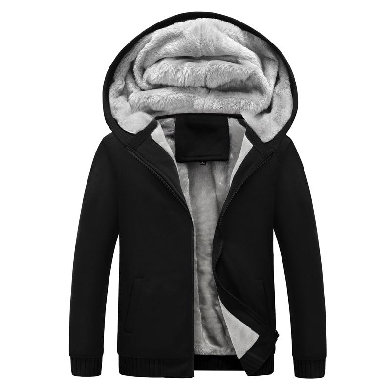 Homme à capuche décontracté polaire hiver épaissi chaud manteau mâle Sweatshirts manteau cardigan à fermeture éclair à capuche homme vêtements