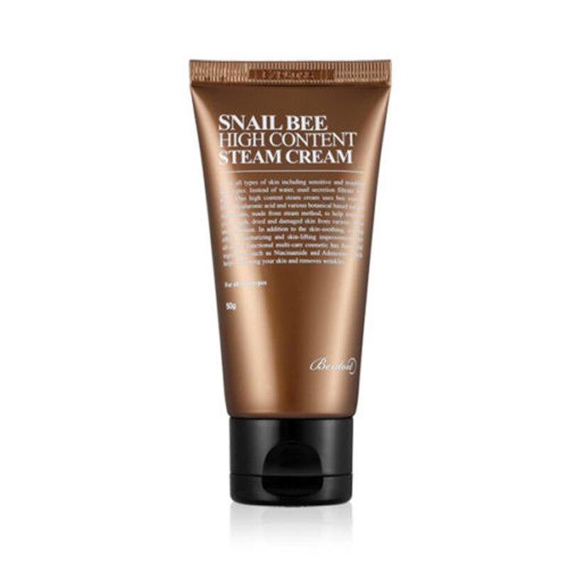 BENTON Caracol de alto contenido de vapor crema 50g de ácido hialurónico crema Anti-envejecimiento tratamiento hidratante para el acné suero Facial