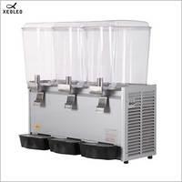 XEOLEO Three jars Cold&Hot Drink machine 18L*3 Fountain type Beverage Machine Fruit juice dispenser 200V Mixing Juice Dispenser