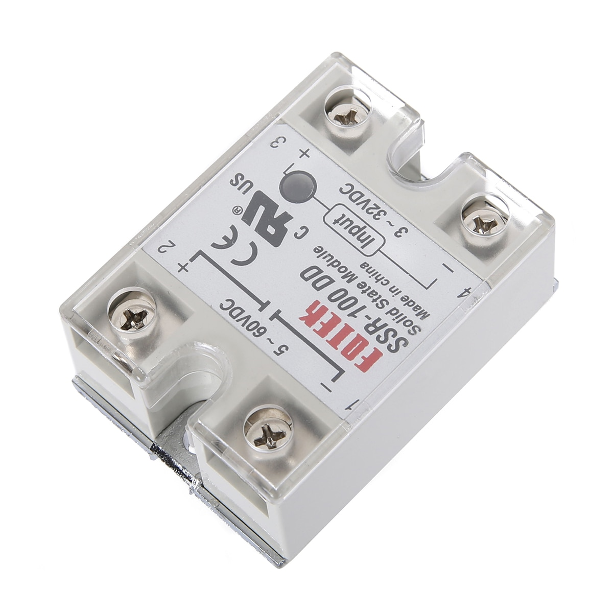 1pc Mayitr SSR-100DD Solid State Module Relay 100A 3-32V DC/5-60V DC Contactless Solid-state Relays