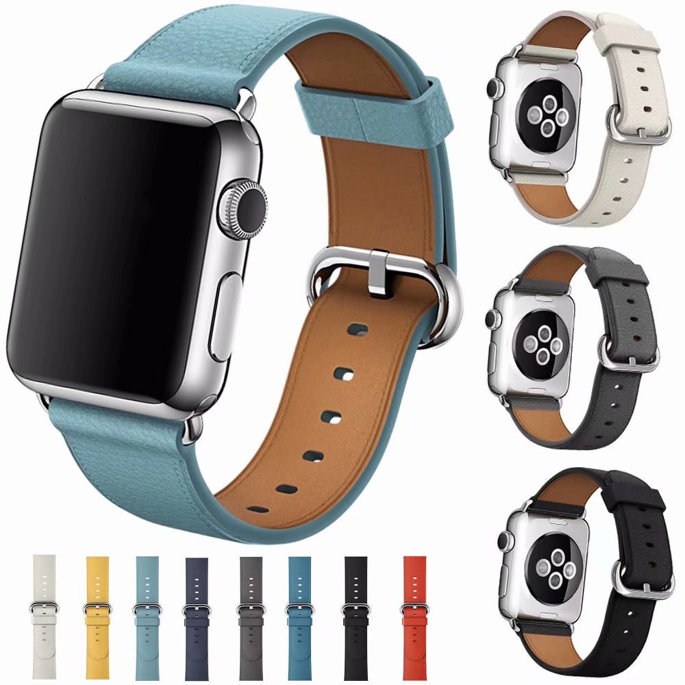Clássico moderno fivela banda para apple assistir série 5 4 3 2 cinta para iwatch 44mm 40mm 38mm 42mm pulseira inteligente acessórios de pulso