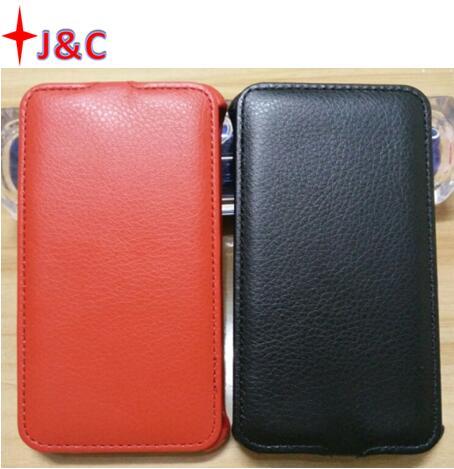 Funda abatible de cuero de PU ultrafina para Fly Nimbus 1 FS451 cubierta de teléfono móvil de arriba y abajo negra color rojo