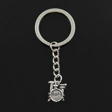 New Fashion Keychain 16x14x4mm Drum Set Stopwatch Pendants DIY Men Jewelry Car Key Chain Ring Holder Souvenir For Gift