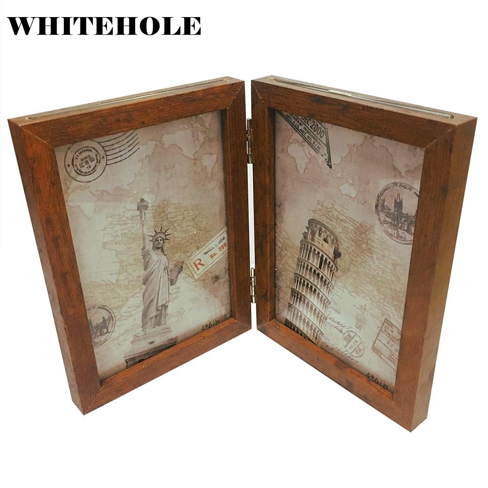 Marco de fotos de escritorio marco de madera 10X15 13X18cm decoración de pared arte moderno decoración del hogar Pantalla de imagen familiar