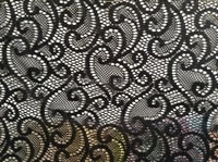 150cm high quality fashion new design elastic lace fabric with 10 colors in stockxery157