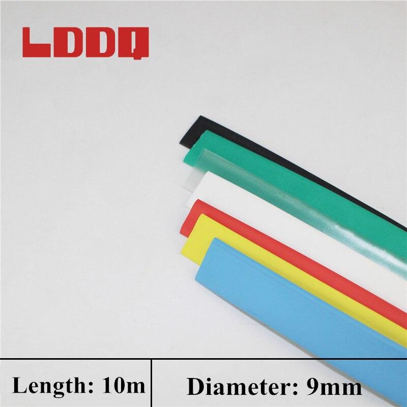 ¡LDDQ 10m Tubo Termocontraíble 9mm relación 21 retráctil PE funda tipo tubo de alambre de Cable Kit equipo eléctrico mejor promoción!