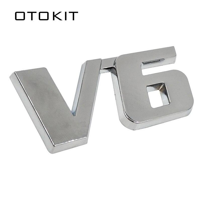 Auto Chrom Metall V6 3D Emblem Abzeichen Aufkleber Stamm Auto Motor Aufkleber Auto Styling Aufkleber für Ford Fiesta Kuga Ranger galaxy Fusion
