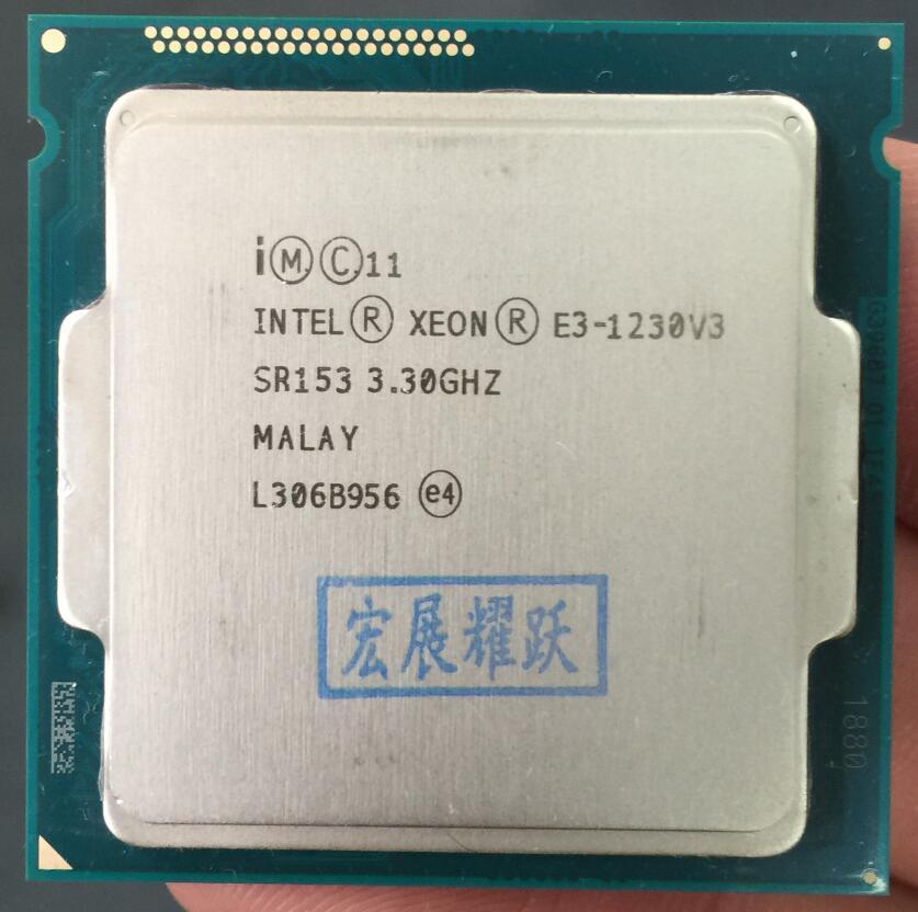 Процессор Intel Xeon, четырехъядерный процессор Intel Xeon V3 E3 1230 V3 LGA1150, 100% рабочий процессор для настольного ПК