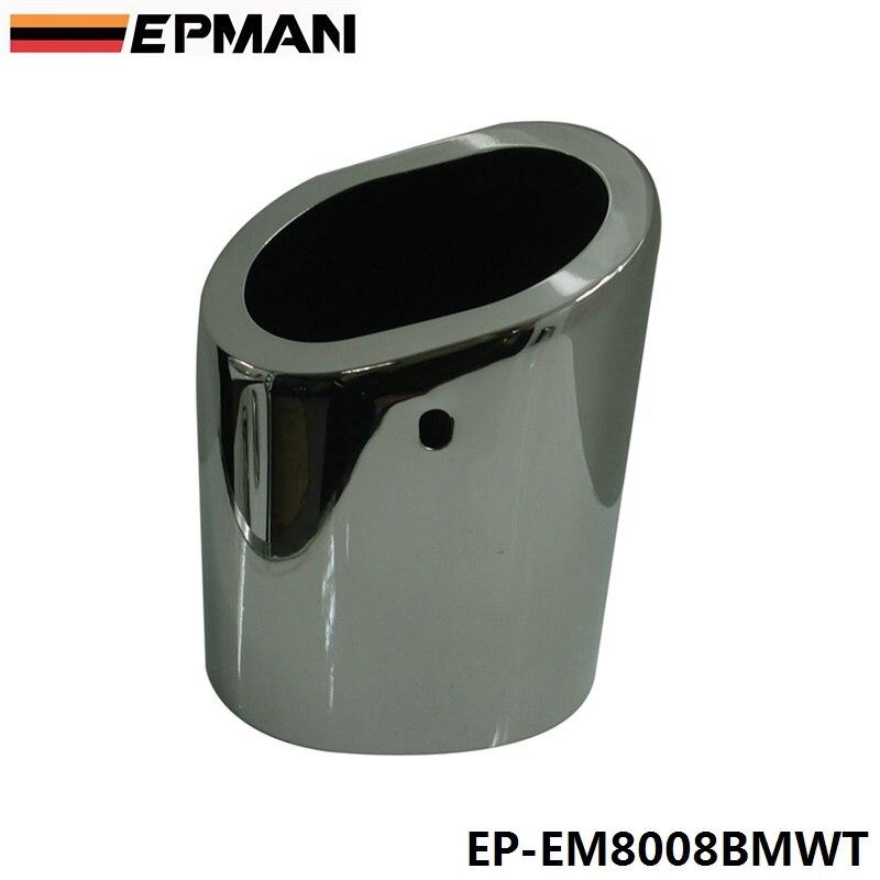 1 шт. хромированный наконечник глушителя из нержавеющей стали для BMW 10-13 X1 sdrive 18i E84 EP-EM8008BMWT