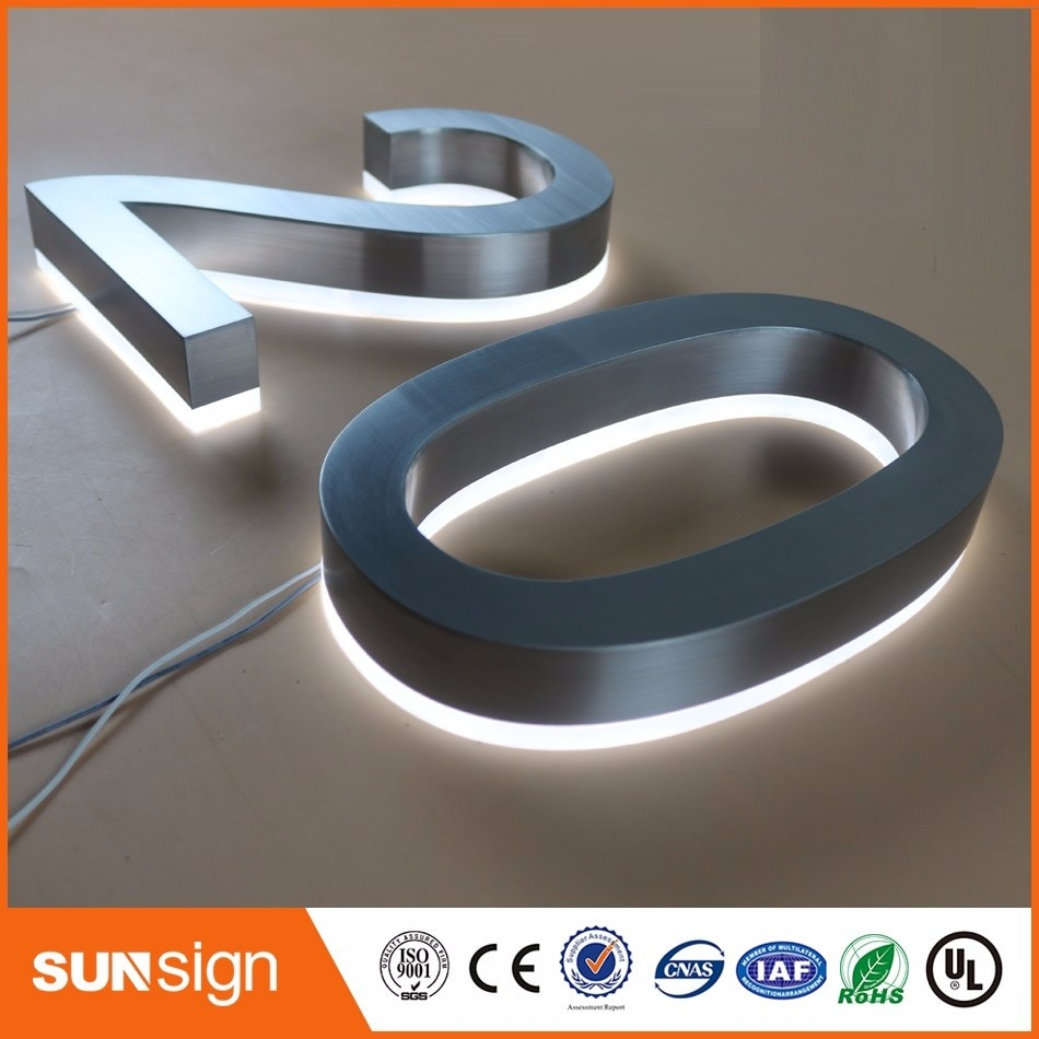 H15cm one letter Custom number 20 LED Illuminated Outdoor & Apartment LED Numbers size H200MM недорого