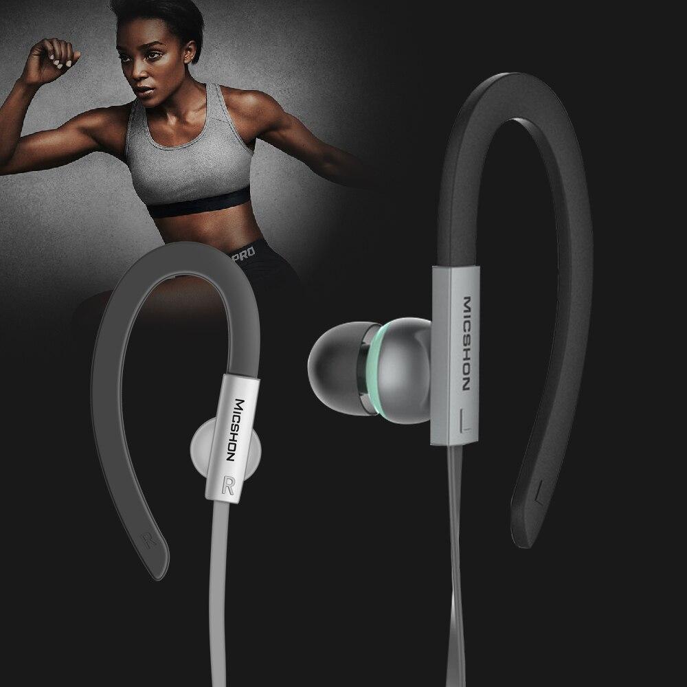 Auriculares con gancho en la oreja de 3,5mm, auriculares estéreo 3D de Super graves con cancelación de ruido y micrófono para Meizu, Xiaomi, Sony y iPhone