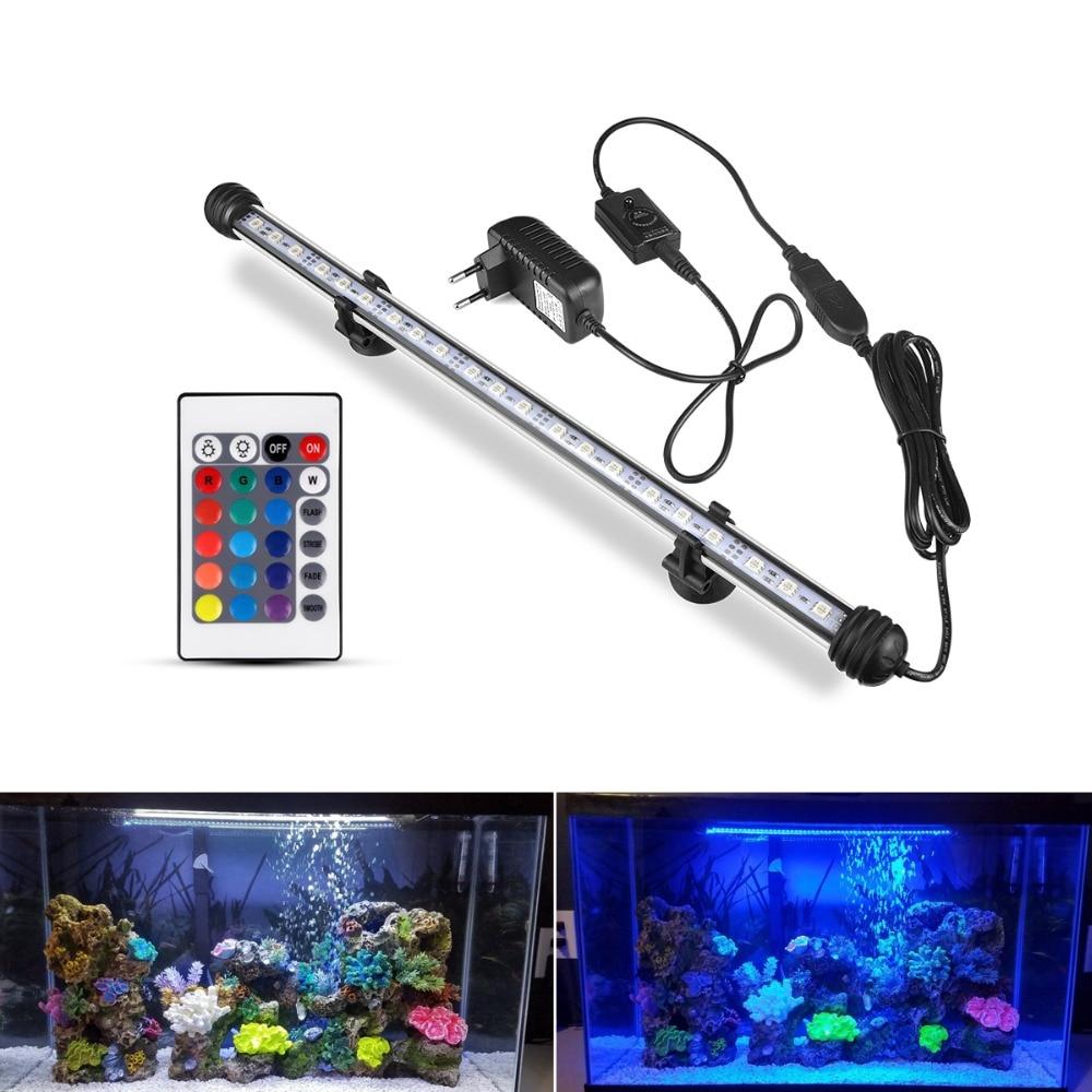 EU plug LED Aquarium Verlichting Waterdichte Aquarium Licht 19/29/39/49 CM Dompelpompen Onderwater Clip lamp Aquatic Decor lamp