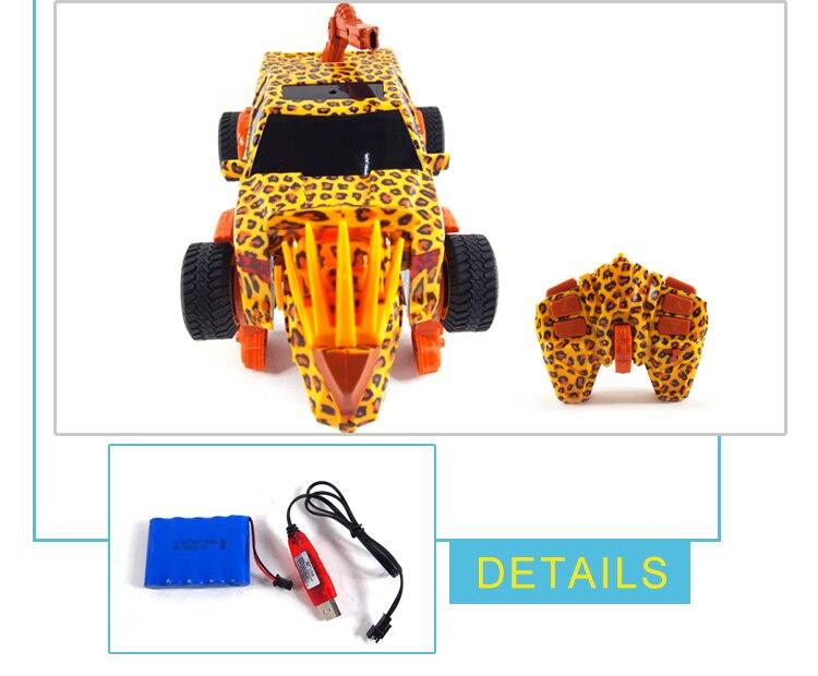 Unique Leopard Print Remote Control Stunt Car Gesture Induction Deformation Transformation rc Truck carrinho de controle remoto enlarge