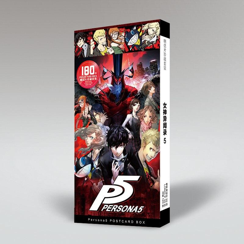 Persona 5 protagonista Joker Ren amamia Ryuji Sakamoto postal tarjetas postales etiqueta libro folleto Cosplay regalo accesorios de libro