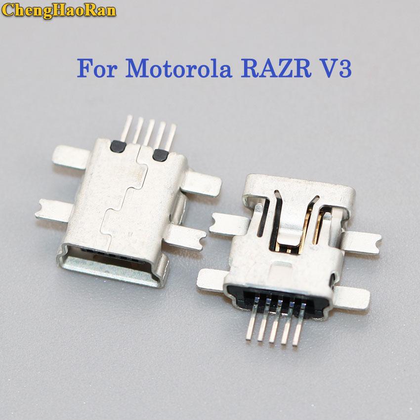ChengHaoRan 1pcs For MOTO Motorola RAZR V3 USB Charging Port Connector Plug Jack Socket Dock Repair Part