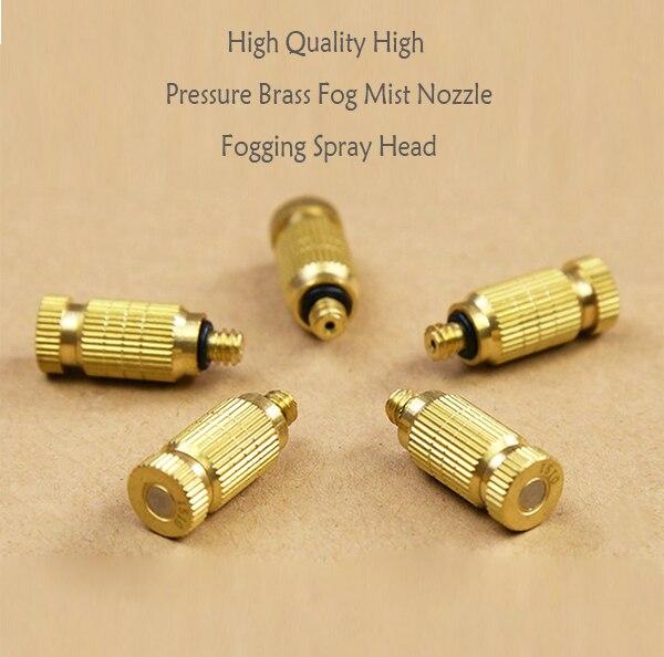 10 шт./компл., высокое качество, высокое давление, латунная насадка для тумана, запотевающая распылительная головка 10/24, Резьбовая головка 0,1/0,...