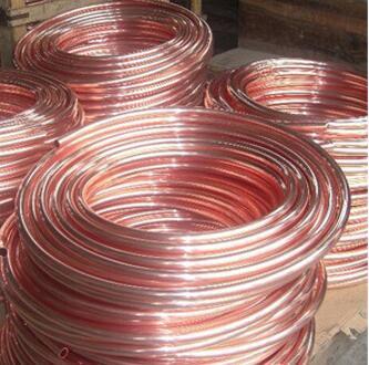طول 3000 مللي متر OD6MM * 1 مللي متر الأحمر النحاس الأنابيب أنبوب الشعرية أنبوب الثلاجة و تكييف الهواء للتبريد
