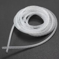 Tube enroule en spirale ID 5mm x OD 6mm 15 metres  cable Transparent  Kit dorganisation de la gestion de la television  du cinema a domicile