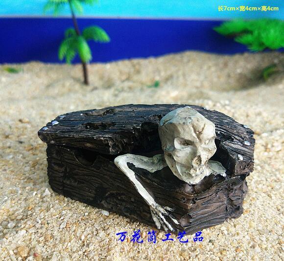 Ataúd calavera fantasma hueso blanco zombie hueso arena juego accesorios ataúd madera fabricantes Venta Directa