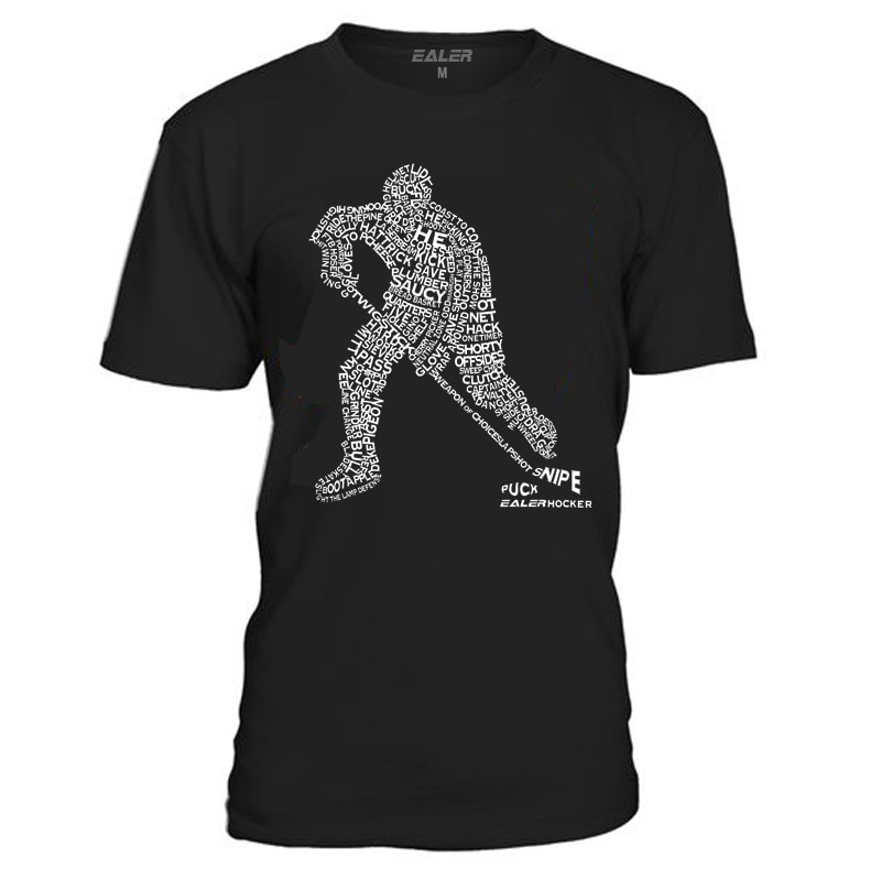 Cool Hockey algodón o-cuello camisetas para Hockey sobre hielo de alta calidad envío gratis Vintage camisa de manga corta para hombre TS1829