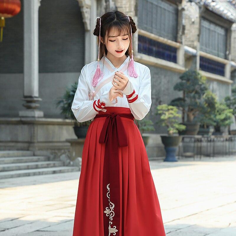 زي تقليدي صيني جديد للنساء ملابس هانفو أثرية لباس رقص للسيدات لأسرة تانغ الشرقية ملابس الأميرة للمسرح