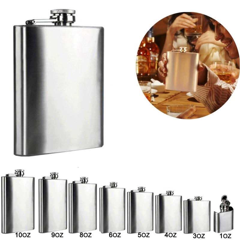 Stainless Steel Hip Flask Flagon High Quality Portable Wine Whisky Pot Bottle Drinkware Bottle For Drinker Drinkware