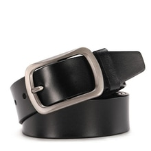 LannyQveen cowhide genuine leather belt pin buckle alloy belts for men high quality male belts free