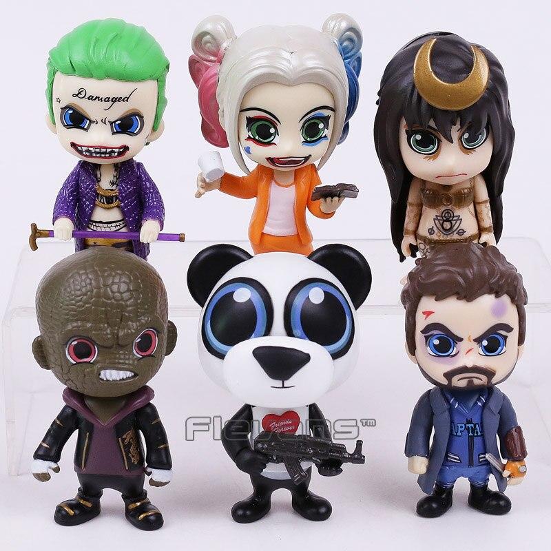 Suicide Squad el Joker Harley Quinn asesino Croc capitán bumerang hombre Panda hechicera 6-pack figuras de PVC coleccionables Juguetes