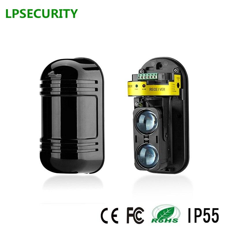 LPSECURITY 150M Active Photoelectric two Beam Infrared Sensor Barrier Detector/Infrared Barrier Detector,Sensor Perimeter Alarm
