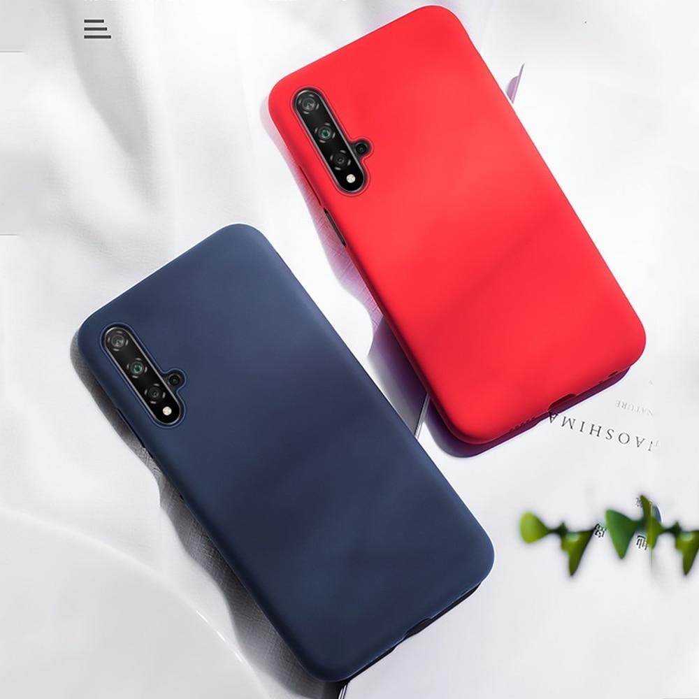 Para Honor 20 funda de goma de silicona suave forro de microfibra funda de teléfono para Huawei Honor 20 Pro cubierta a prueba de golpes parachoques