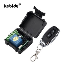 Kebidu 1 шт. радиочастотный передатчик 433 МГц пульт дистанционного управления с беспроводным пультом дистанционного управления DC 12 В 1CH релейный модуль приемника