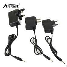 ANJOET ue/usa/royaume-uni prise chargeur BS Plug adaptateur secteur ca adaptateur dalimentation 4.2V chargeur pour 3.7V 18650 16340 lampe de poche frontale