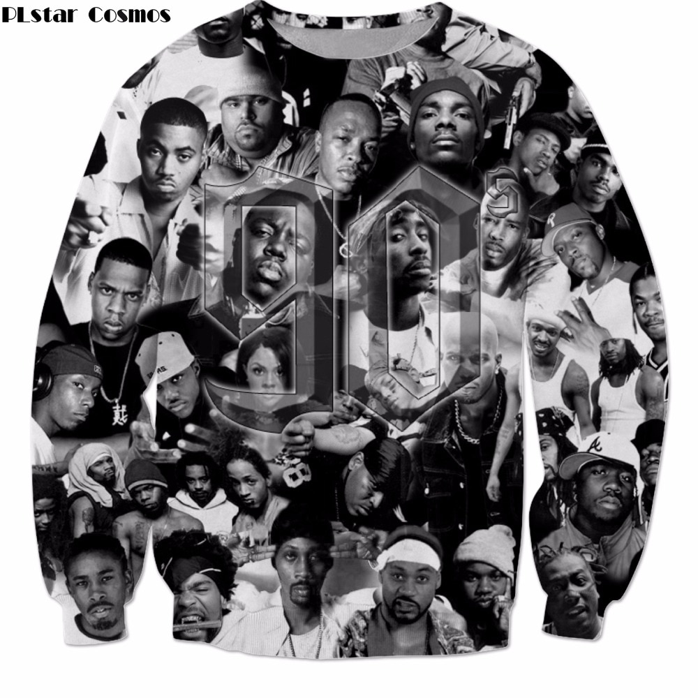 PLstar Cosmos 2019 New Fashion Long Sleeve Outerwear Hip-hop singer 2pac Tupac Print 3d sweatshirt Unisex casual Pullovers