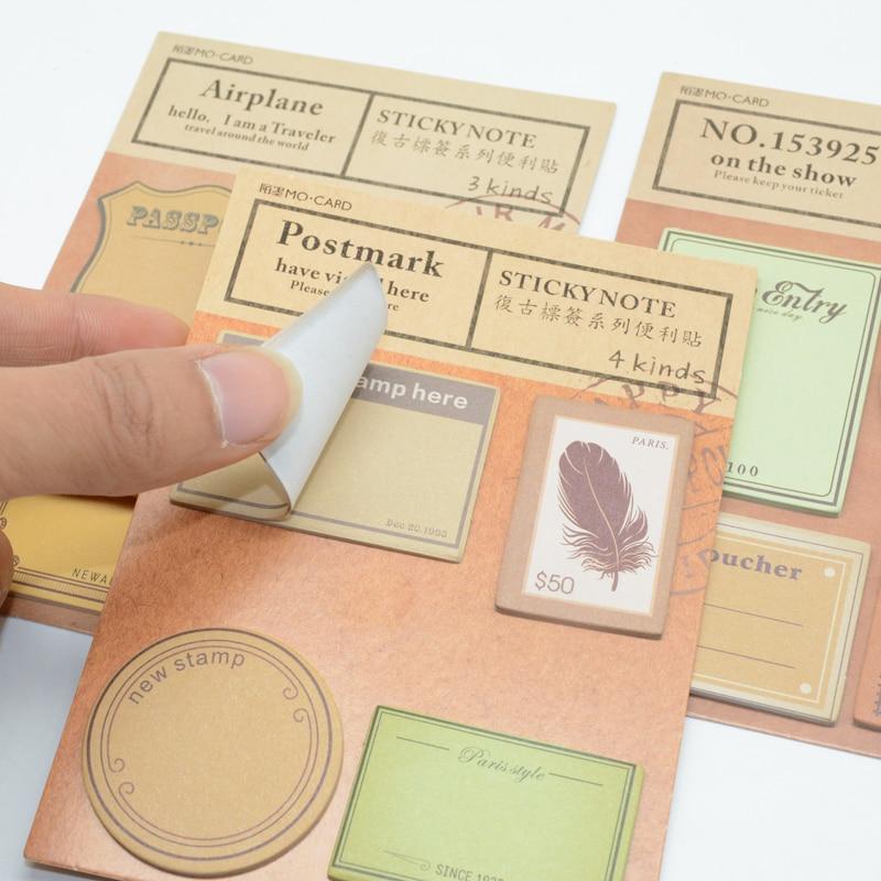 Bloc de Notas Vintage para chica, pegatinas Adhesivas para álbum de recortes...