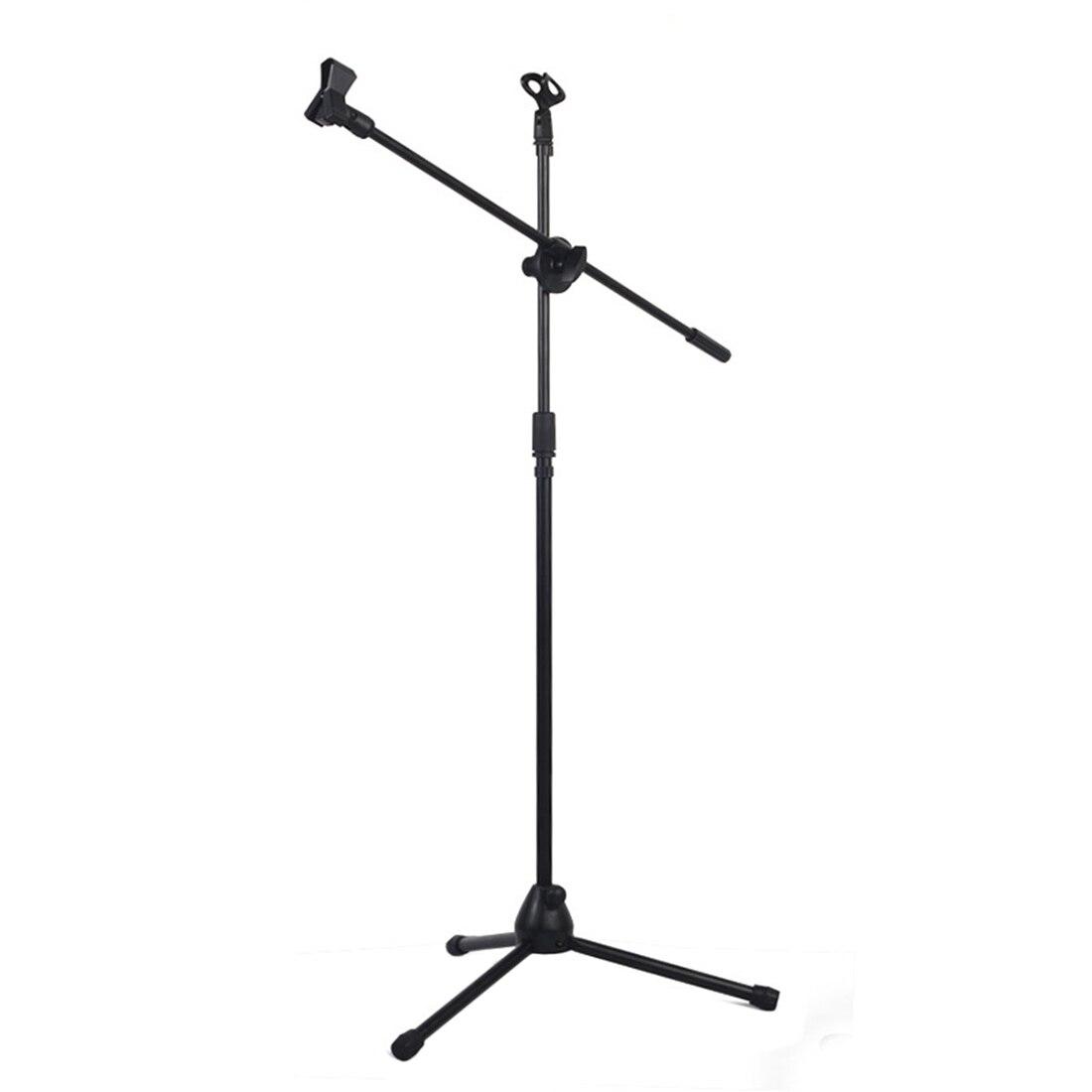 Профессиональный штатив для микрофона с поворотной стрелой, напольная подставка, регулируемый держатель для микрофона, съемная подставка ...