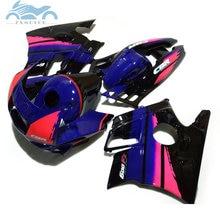 Kits de carénage plastique ABS HONDA   Pour HONDA 1991 1992 1993 CBR600 F2 bleu rose de route, ensemble de carénages de carrosserie de moto CBR 1994 F2 91-94