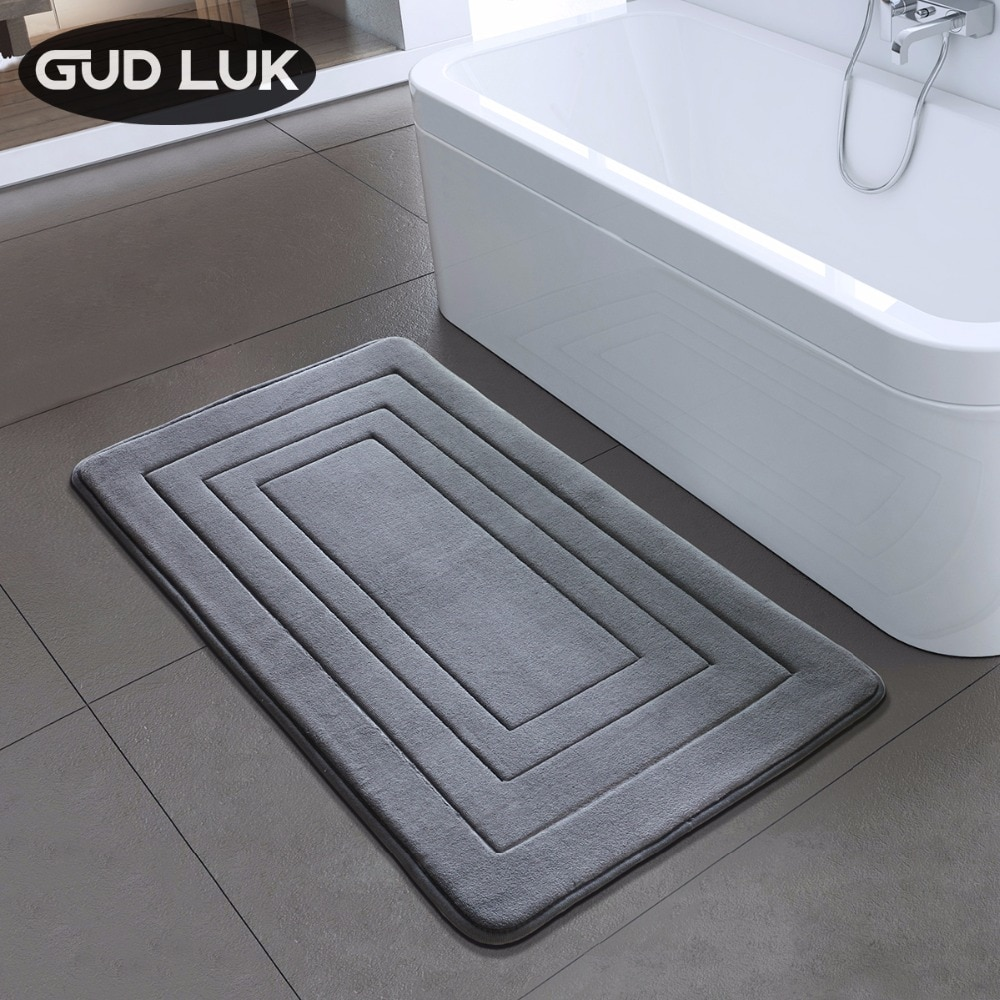 High Quality Bath Mat Bathroom Bedroom Non-slip Mats Foam Rug Shower Carpet for Bathroom Kitchen Bedroom 40x60cm 50x80cm ZA-003