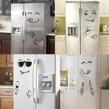 Autocollant mural visage souriant délicieux   Nouveau autocollant visage, 4 Styles, Yummy, pour la décoration des meubles alimentaires, affiche artistique, bricolage en PVC