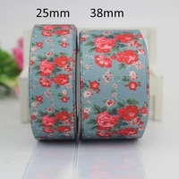 grosgrain ribbon flowers 25mm 38mm gift wrap decoration tape diy garment accessories birthday party decoration 25 yards