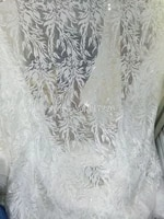 wholesale nigerian french lace fabric latest african embroidered lace fabric in white color jrb 81056 for nigerian dress